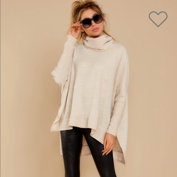 Last to Love Oatmeal Cowl Neck Sweater